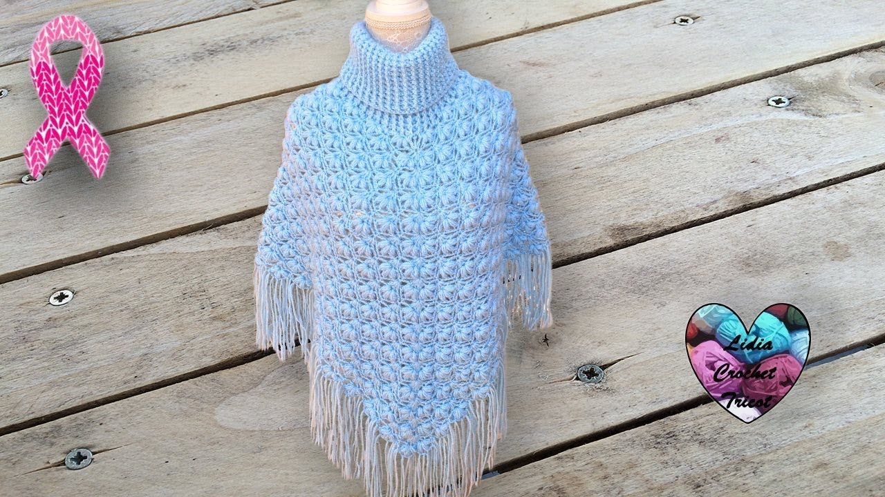 Poncho Point Fleuri En Relief Crochet Magnifique Youtube