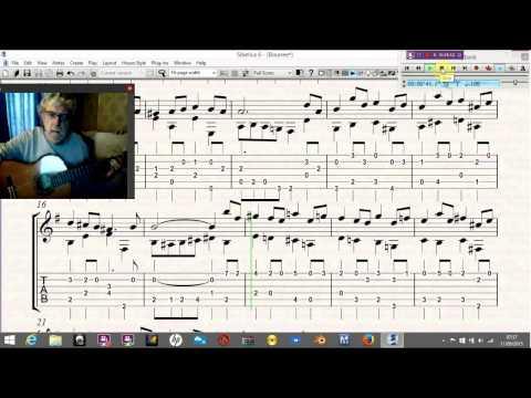 Bourree JS Bach Guitar Tutorial