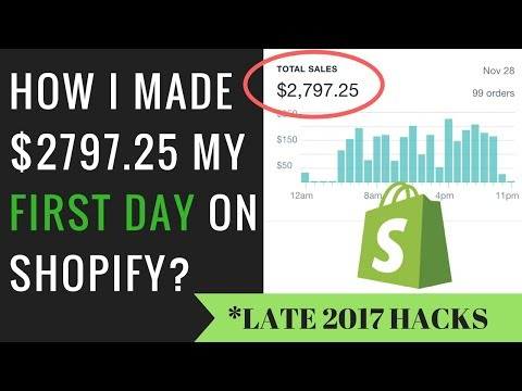 HOW I MADE $2797.25 MY FIRST DAY ON SHOPIFY- 2017 TUTORIAL