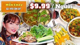 Đi Ăn Lẩu Hạnh Nhân Bao Bụng -Nhiều Món Chay Ngon Giá Không Ngờ -All U Can Eat Veggie Hotpot #92