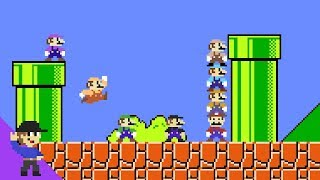Download What if 8 Marios tried to beat Super Mario Bros.? Mp3 and Videos
