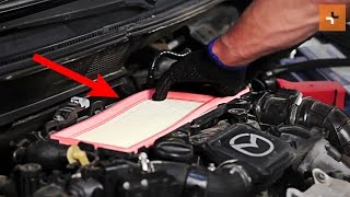 How to change a air filter MAZDA 2 DY TUTORIAL | AUTODOC