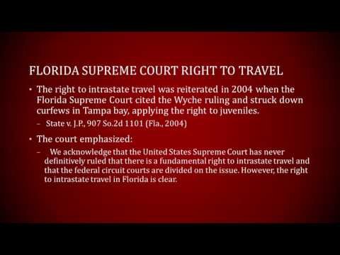 Right to Intrastate Travel in Florida - Florida Rights Institute