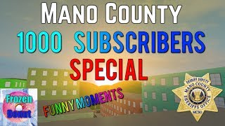 Frozen Donut 1000 Subscribers Special | Roblox Mano County Funny Moments |