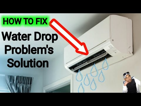 How to Remove water leaking in air conditioning,Air con water leaking problem solve in Urdu/Hindi