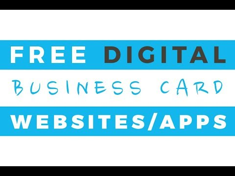 3 best free digital business card online generators apps talk through tutorial - Free Digital Business Card