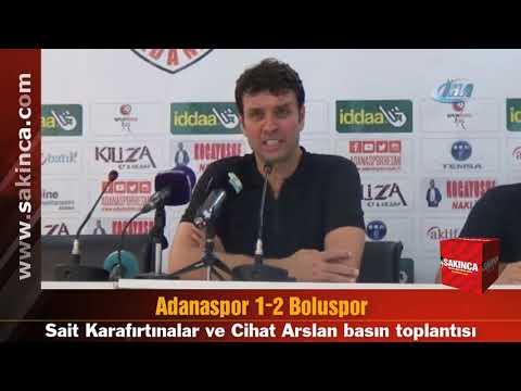 Adanaspor 1-2 Boluspor (Maç sonu basın toplantısı)