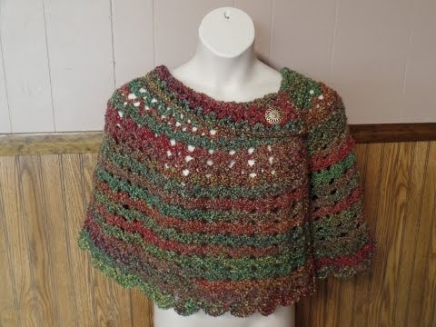 Learn How to Crochet Womans Cozy Capelet Shawl Poncho Croche