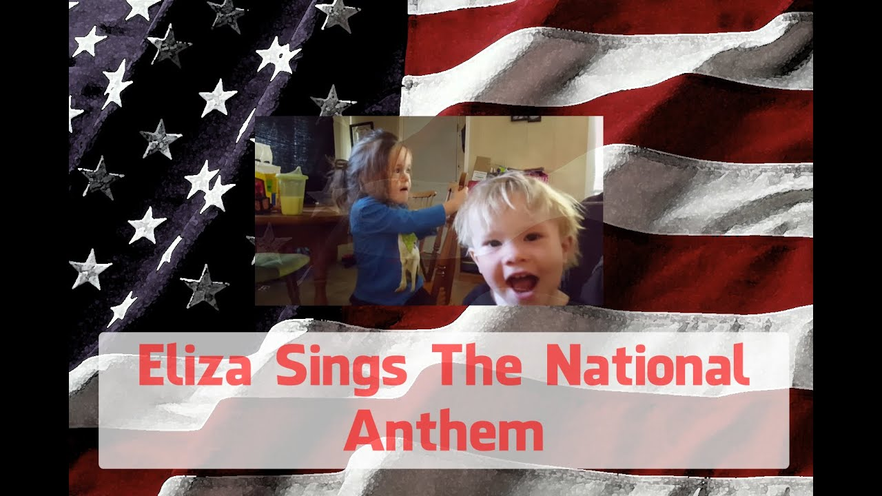 3 year old sings star spangled banner 4th of july youtube