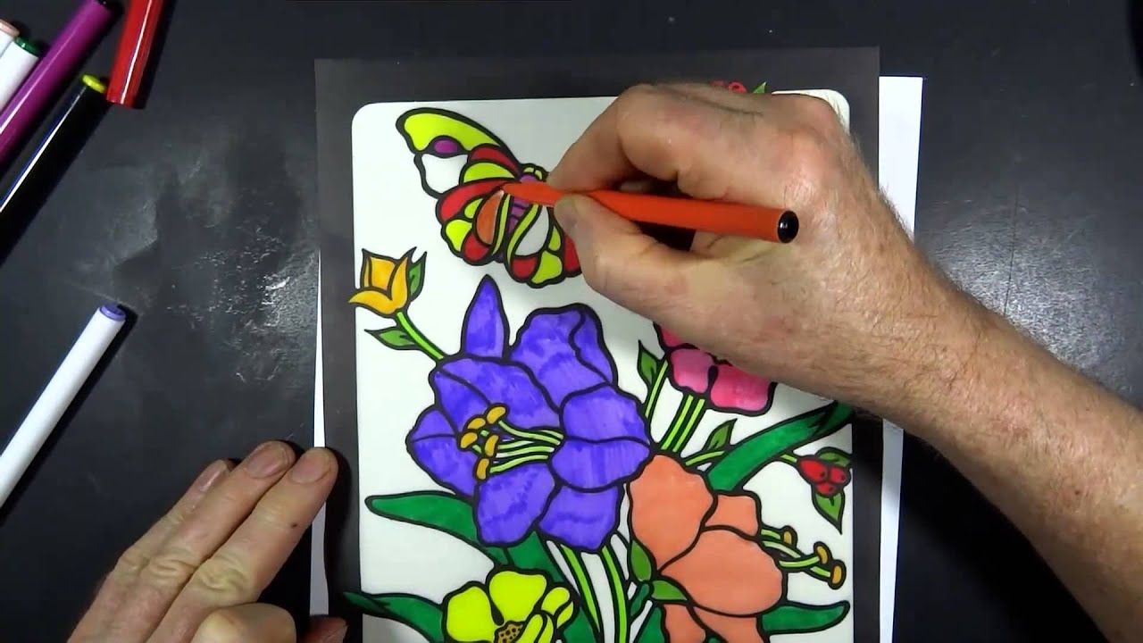 Stained Glass Coloring Book 2 - YouTube