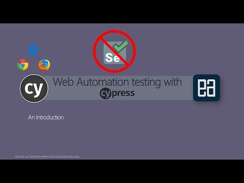Introduction to automation testing with Cypress.io (Non-selenium framework)