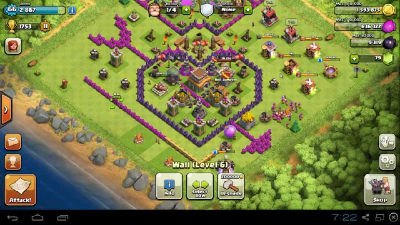 Coc th8 base design - Clash Of Clans Jonno S Heart Attack Th8 Trophy Base Design