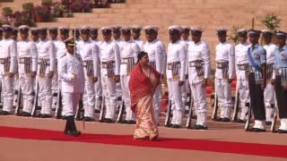 Ceremonial welcome of President Bidya Devi Bhandari of Federal Democratic Republic of Nepal