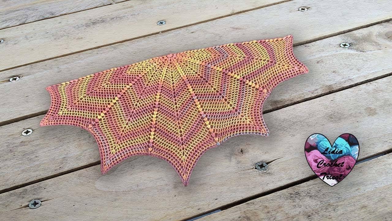 Châle Canada Version été Lidia Crochet Tricot