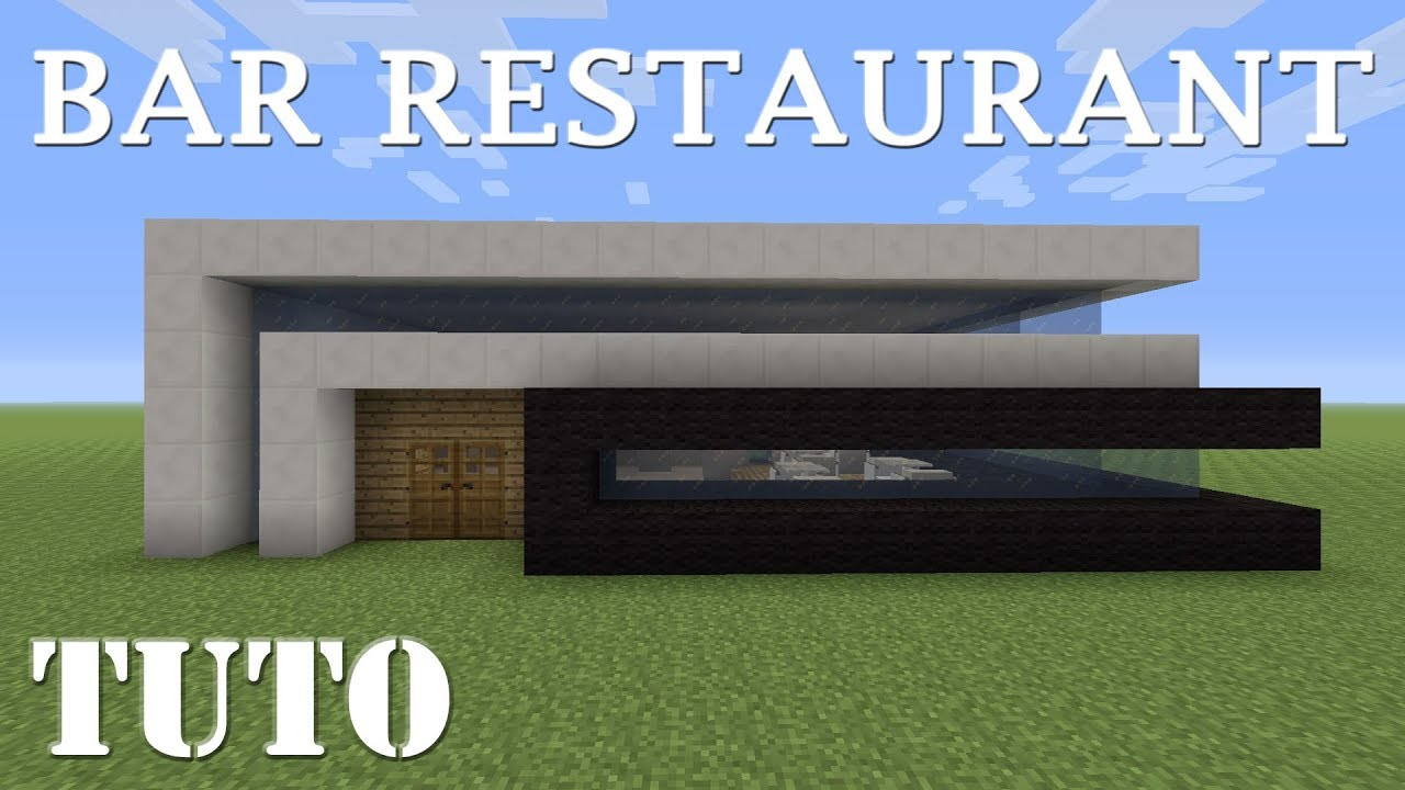 minecraft comment faire un bar restaurant moderne ps4 youtube. Black Bedroom Furniture Sets. Home Design Ideas