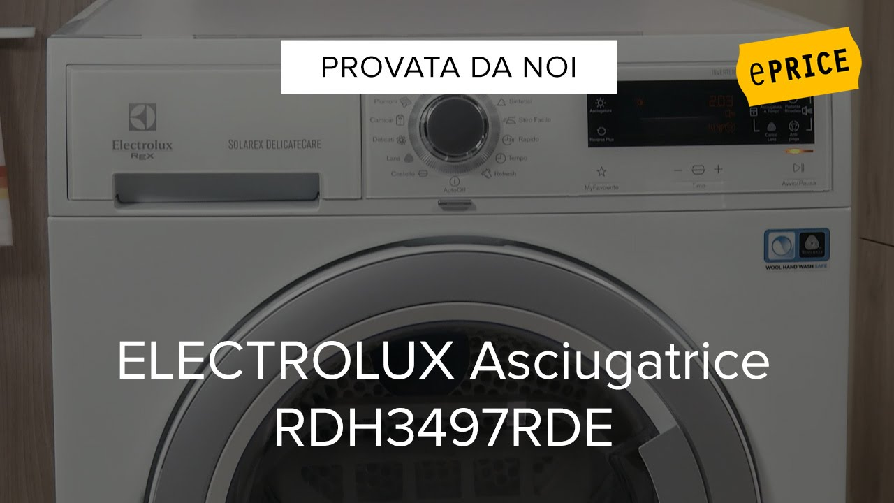 Awesome Video Recensione Asciugatrice Electrolux RDH3497RDE   YouTube