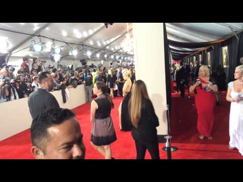 Cara Quici arrives at the 56th Annual Grammy Awards
