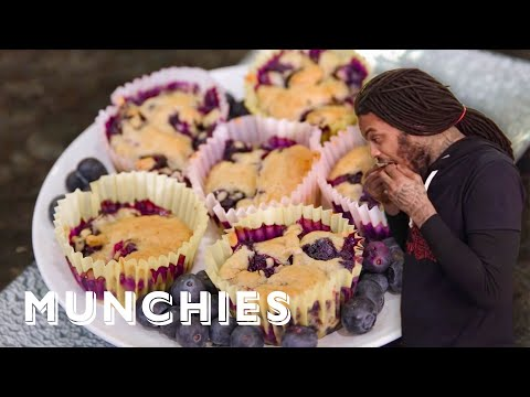 How To Make Vegan Blueberry Muffins with Waka Flocka Flame & Raury