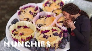 How To Make Vegan Blueberry Muffins with Waka Flocka Flame & Raury