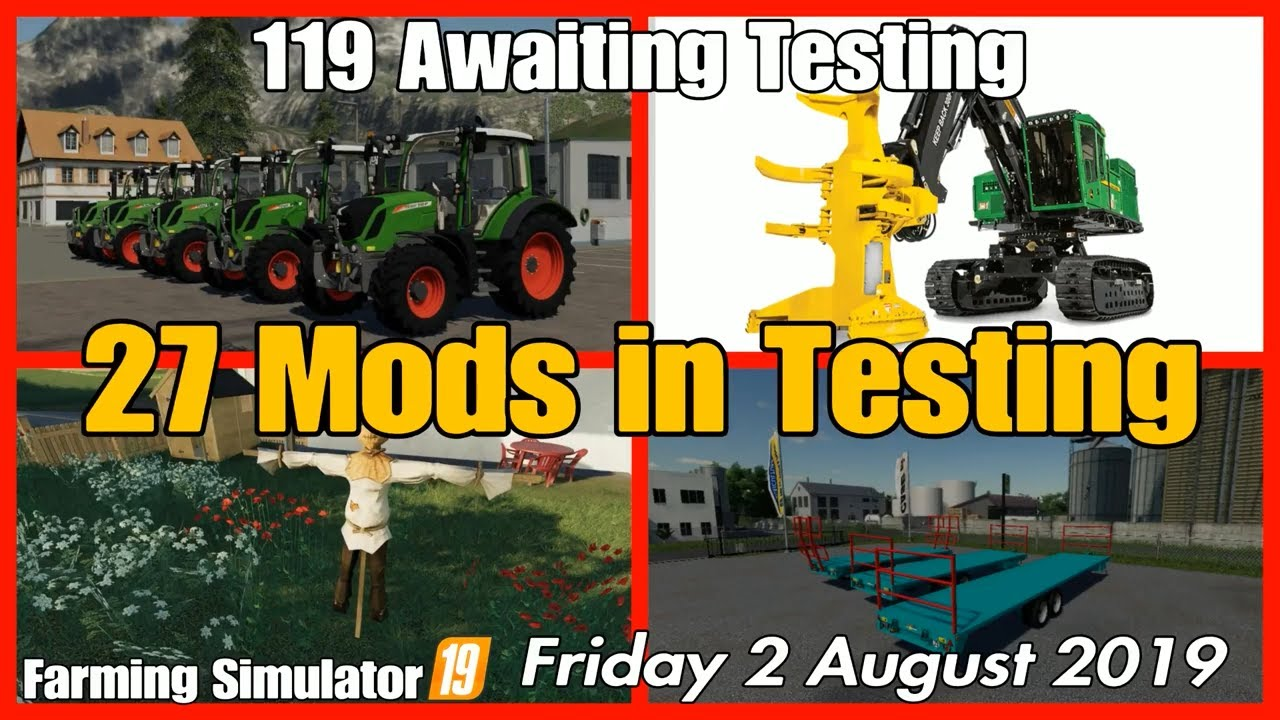 Mods in Testing list fs19 Giants mods in testing #fs19 mods review farming  simulator 19