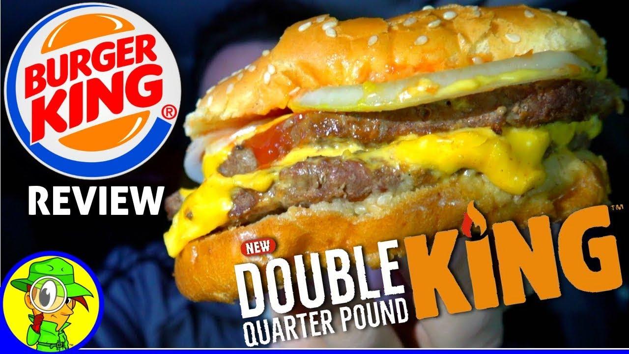 burger king174 double quarter pound king� review ����� youtube
