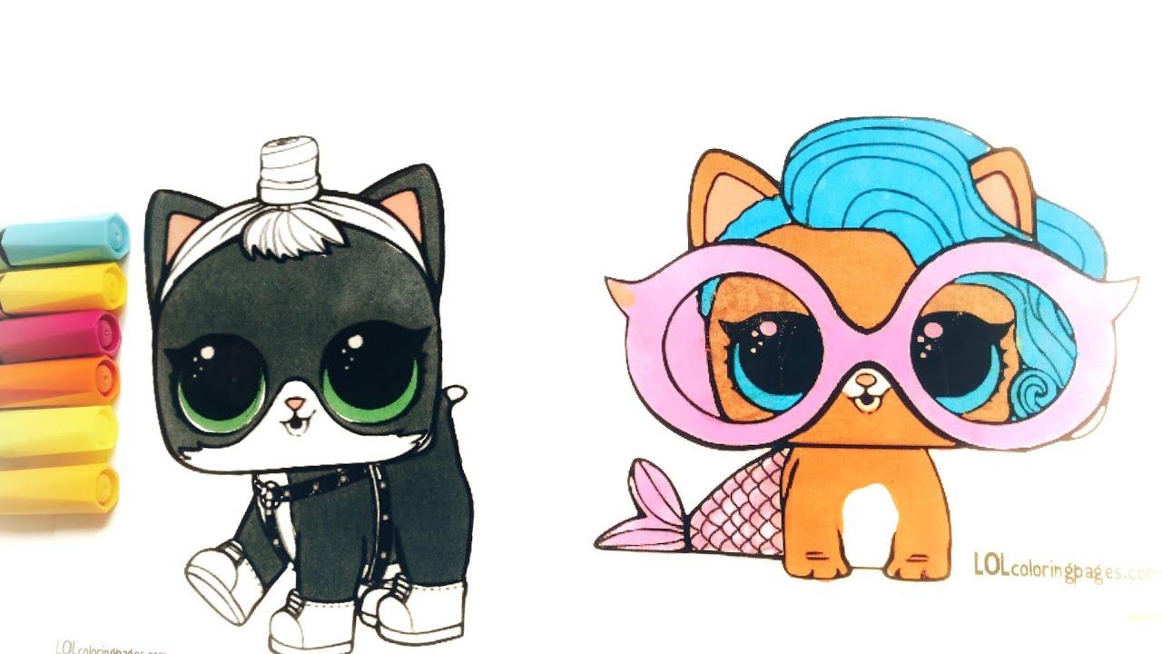 Lol Pets Surprise Tutorial Coloring Pages Diy Raskraski Lol Doll