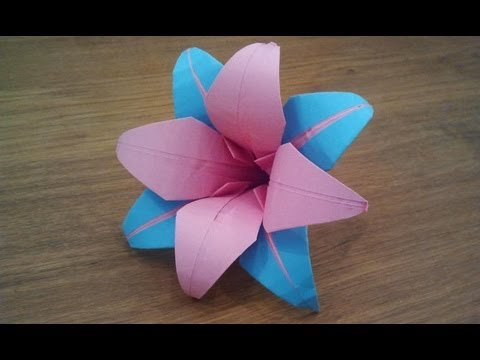 How To Make An Origami Lily Flower Youtube
