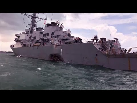 Search for missing sailors after Navy ship collision off Singapore