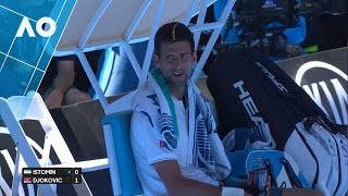 Djokovic & Istomin 'shall we skip to the end?' | Australian Open 2017
