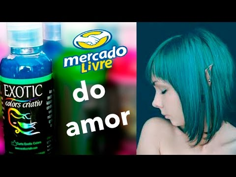 como pintar o cabelo | exotic colors | verde marine - youtube