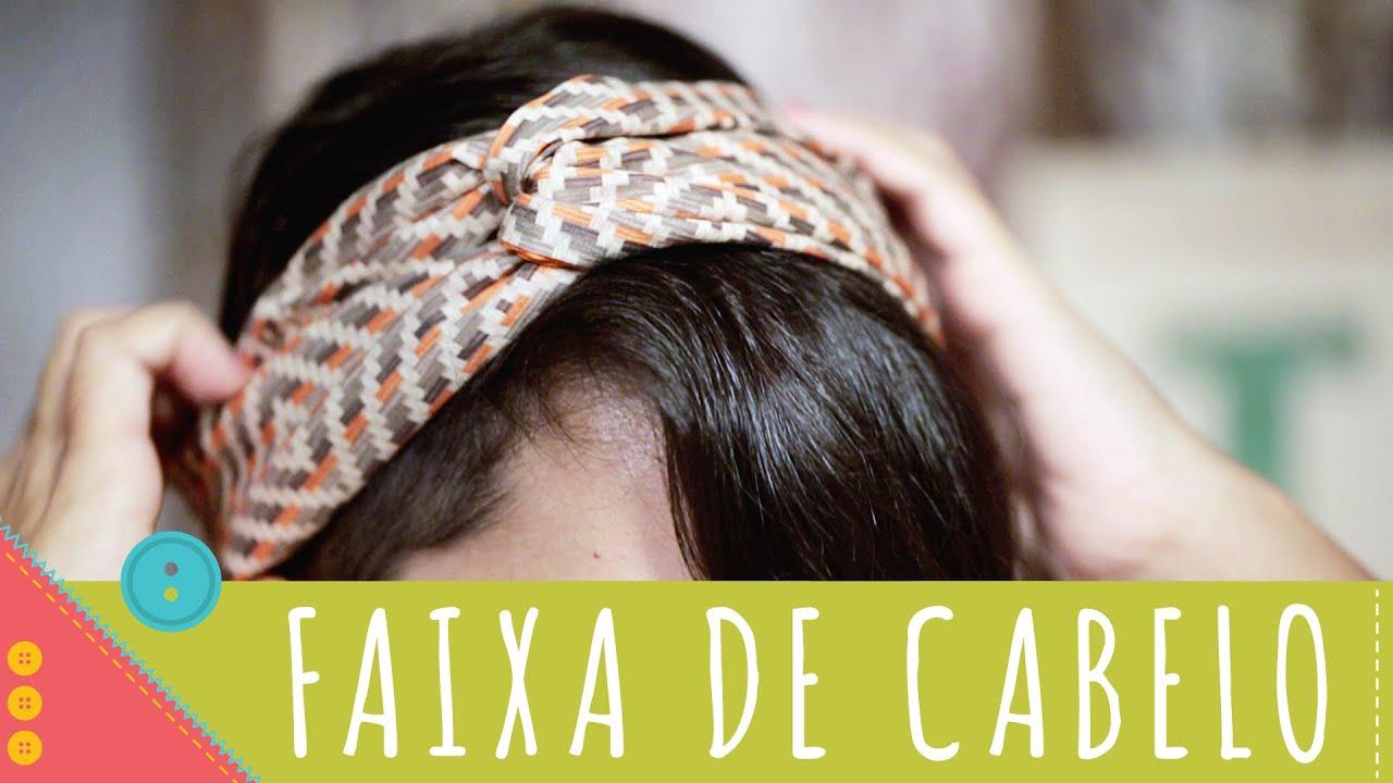 Como costurar faixa de cabelo passo a passo Descomplica! - YouTube e50a66c21ca