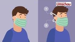 Mund-Nasen-Schutz: Der richtige Umgang