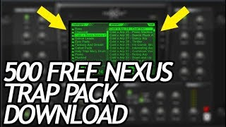 Free Nexus 2 vst plugin Trap Expansion pack download [500 free presets]