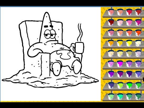Spongebob Painting Games Spongebob Coloring Pages - YouTube