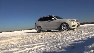 BMW X3 35i Snow video 2014 NEW 1080p Full HD(This is my SAV doing it's thing. Listen to the sound of the blow off valve. Look at the quality of this BMW, I love it., 2014-03-14T01:23:52.000Z)