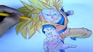 Como Desenhar Goku Super Saiyajin 3 (Dragon Ball Z)