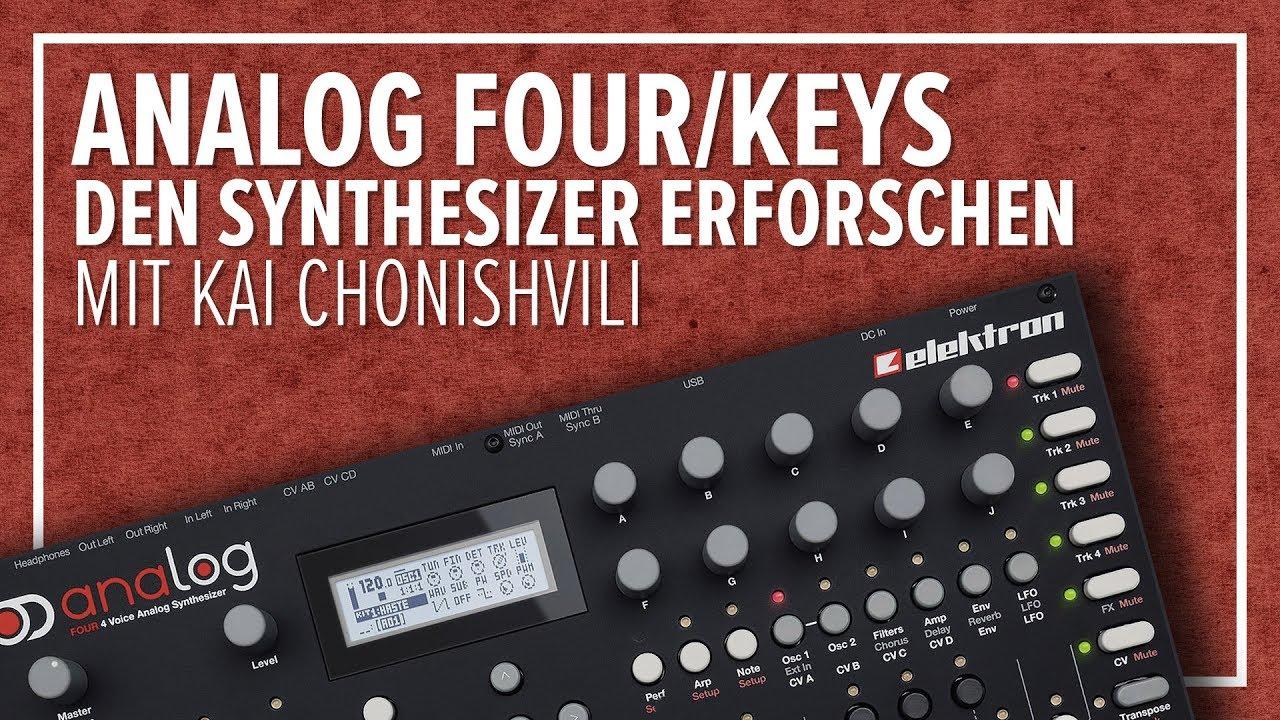 elektron analog four keys den synthesizer spielerisch erforschen youtube. Black Bedroom Furniture Sets. Home Design Ideas