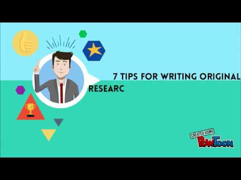 7 Tips for writing original Research paper & Journal article