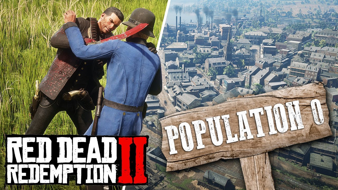 CAN YOU KILL an ENTIRE CITY in Red Dead Redemption 2?! thumbnail