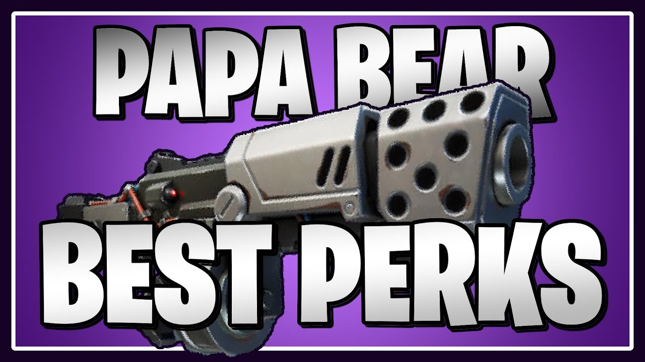 The BEST PERKS for the Papa Bear & Typewriter in Fortnite Save the World!