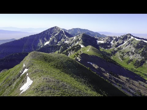 Aerial Video of the Oquirrh Mountains Ridgeline with the DJI Mavic Pro