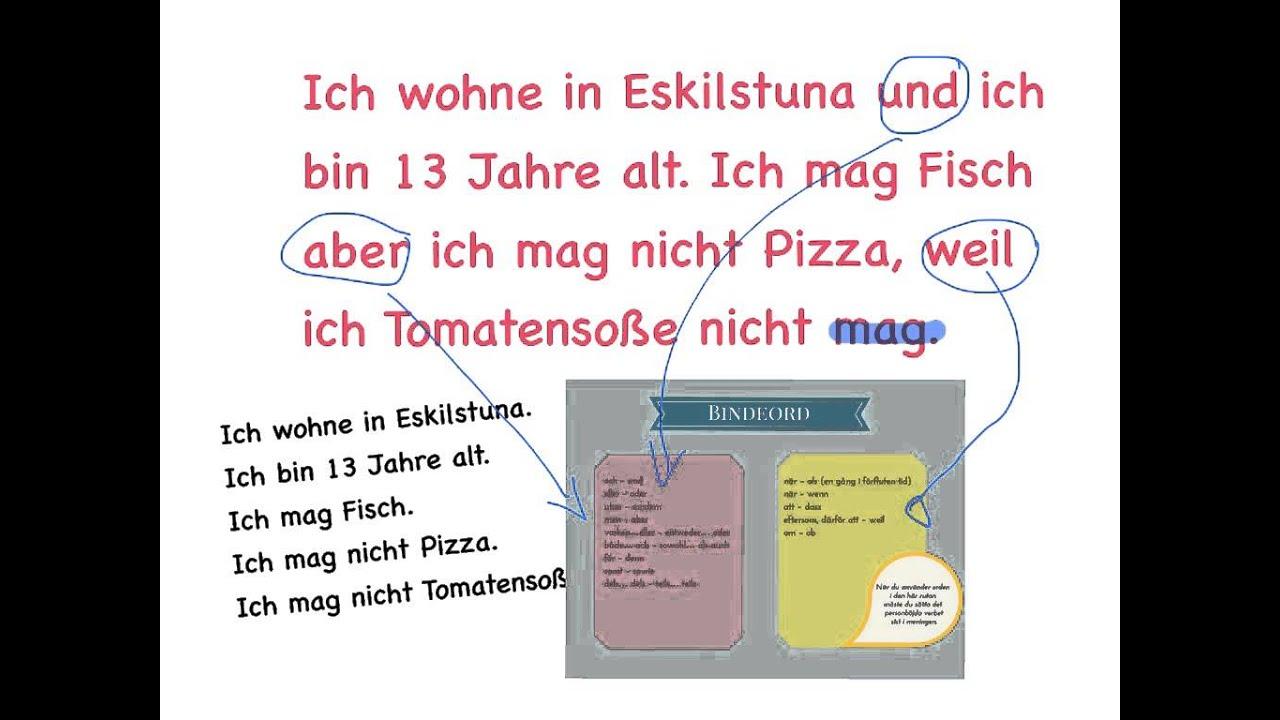 Bindeord på tyska