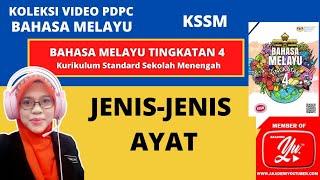 ASPEK TATABAHASA:JENIS-JENIS AYAT | BAHASA MELAYU KSSM TINGKATAN 4