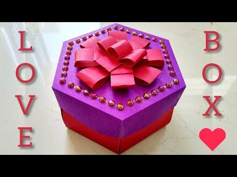 Explosion Box / Hexagonal Design / Birthday Gift Ideas Homemade / Handmade Craft / Chocolate inside
