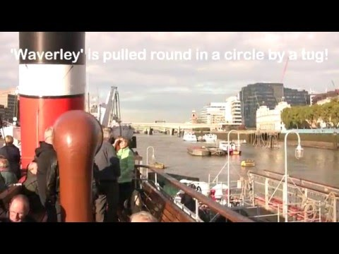 Onboard Paddle Steamer Waverley   Tower Pier to Thames Barrier   11th Oct 2014