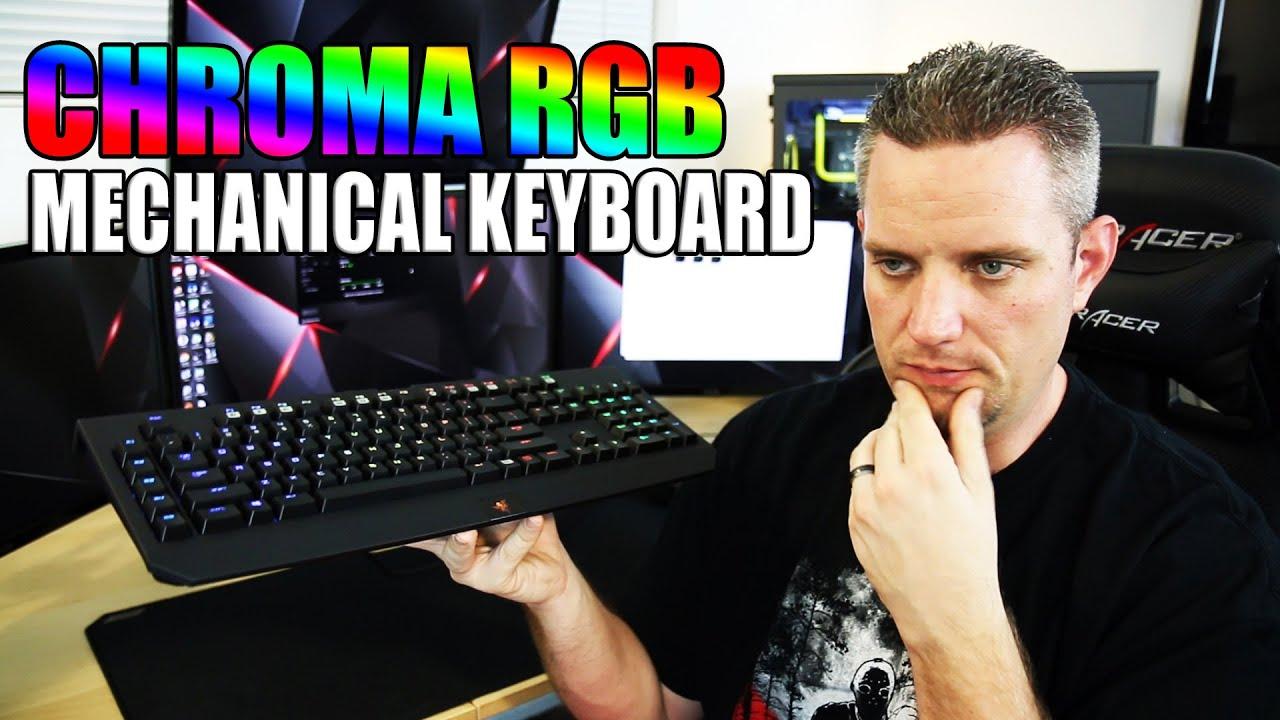 Razer Blackwidow Chroma RGB Keyboard Review and Demo