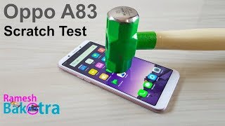 Oppo A83 Screen Scratch Proof Glass Test