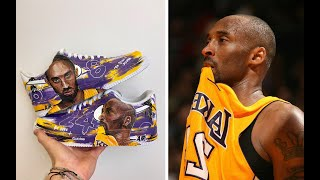 In respects to kobe bryant's recent passing along with 8 others including his daughter, gianna, i have hand-painted and gifted these custom air force 1's ...