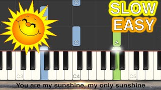You Are My Sunshine - Moira Dela Torre SLOW EASY Piano Tutorial (Synthesia)