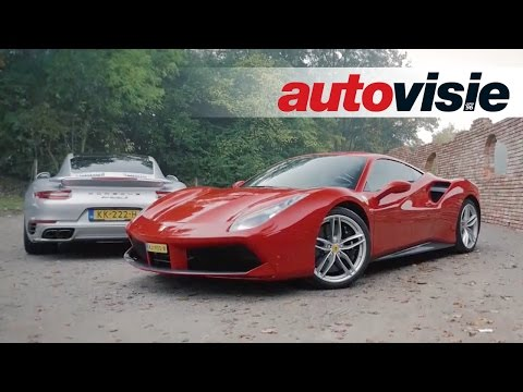 Autovisie TV: Turbopower  Ferrari 488 GTB en Porsche 911 Turbo S 2017